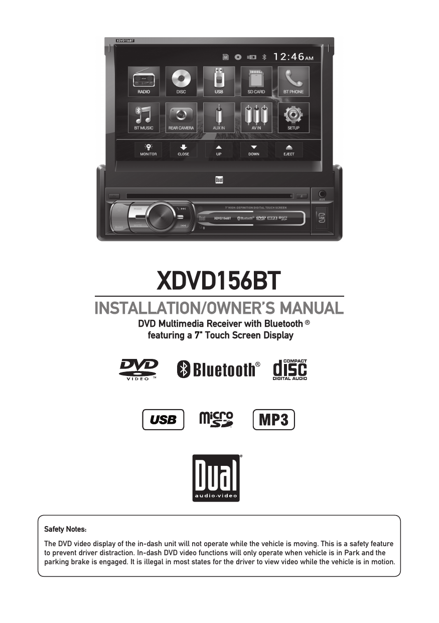 medium resolution of xdvd156bt dual electronics