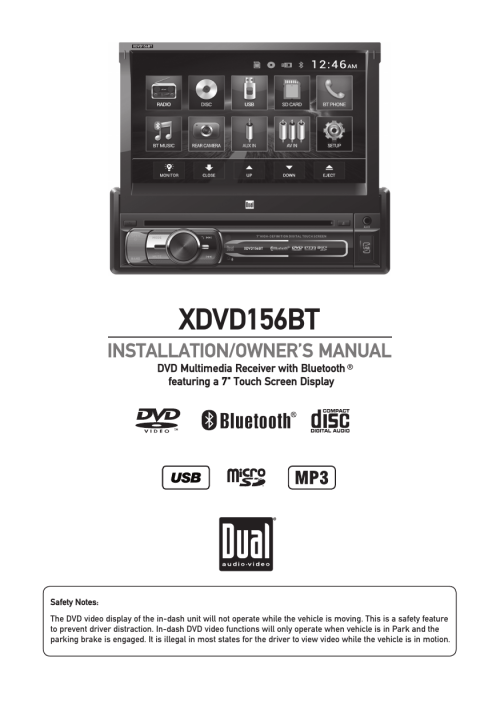 small resolution of xdvd156bt dual electronics manualzz comdual touch screen wiring diagram 4
