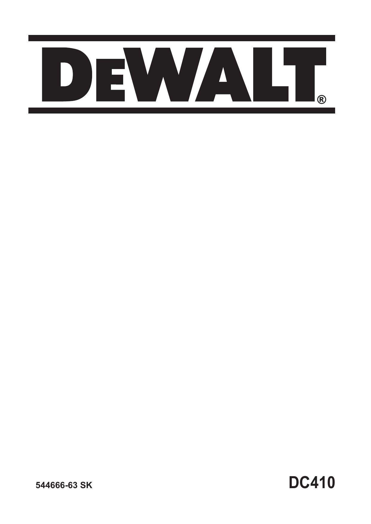 DeWalt DC410 SMALL ANGLE GRINDER instruction manual