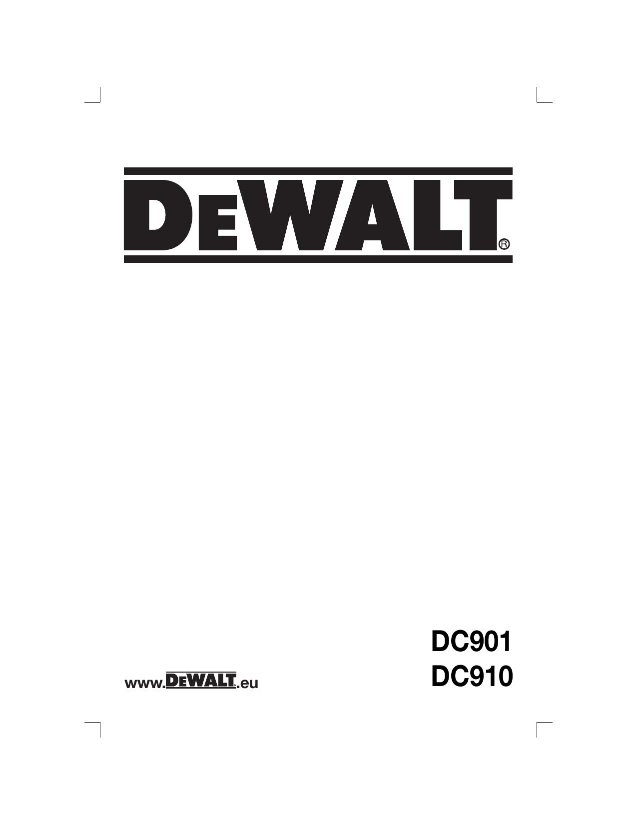 DeWalt DC910KL CORDLESS DRILL instruction manual
