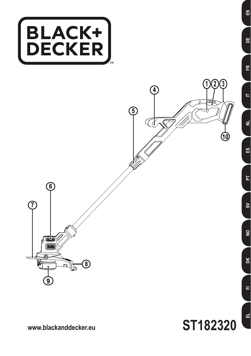 Black&Decker ST1823 STRING TRIMMER Type 2 instruction