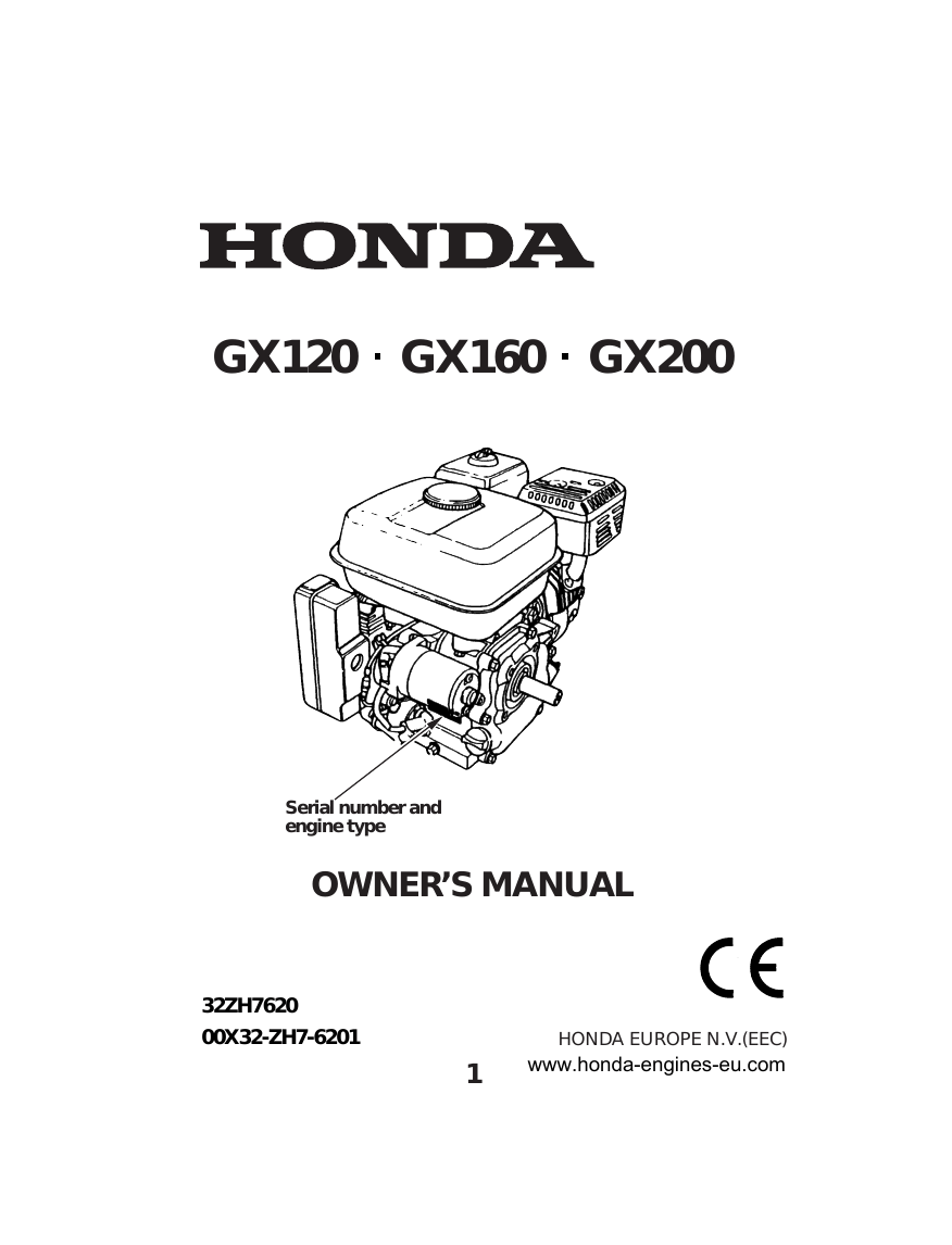 Honda PE242SHI010 PETROL GENERATOR instruction manual