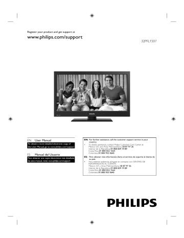 Philips Televisor LCD serie 1000 32PFL1507/F8 Manual del