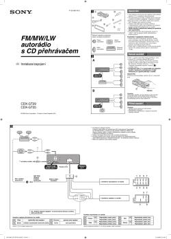 sony cdx gt25 wiring diagram vw golf mk4 headlight switch aloituksen pikaopas asennusohje kaytto ohjeet rychle nastaveni a pruvodce spustenim