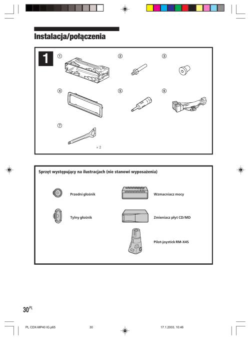 small resolution of sony cdx mp40 instrukcja szybkiego uruchamiania