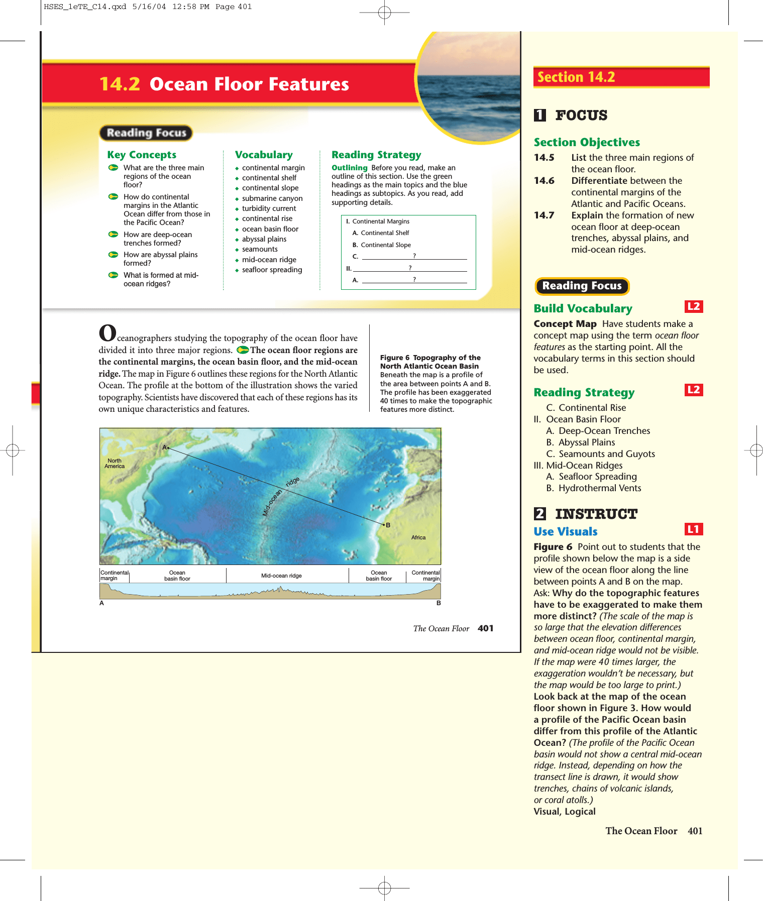 The Ocean Floor Answer Key