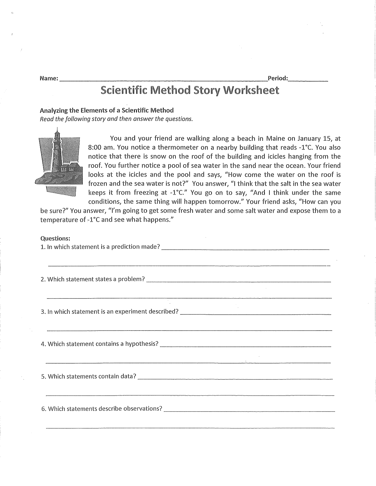 27 Scientific Inquiry Worksheet Answers