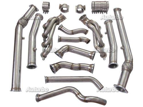 Auturbo Twin Turbo Manifold Donwpipe Kit For 04-06 Pontiac