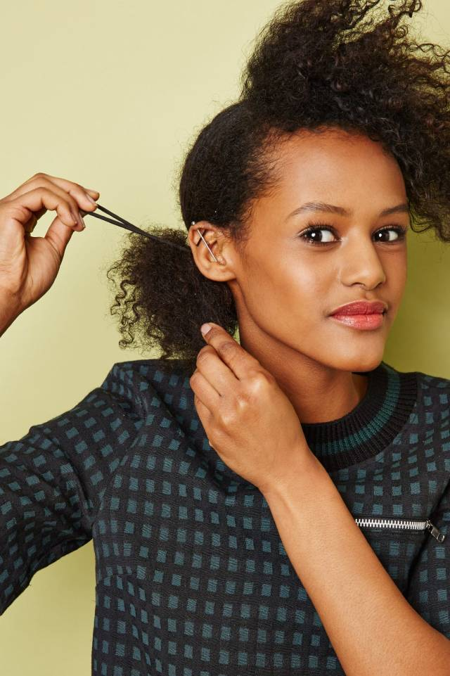 textured natural hairstyles - spring diy looks