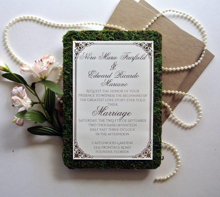 Attractive Wedding Bookmark Template
