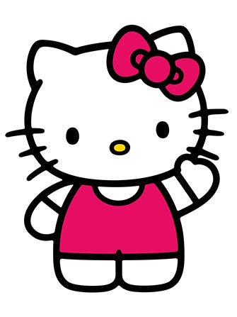 Cute Cat Studying Wallpaper Hello Kitty Not An Actual Cat Sanrio Says