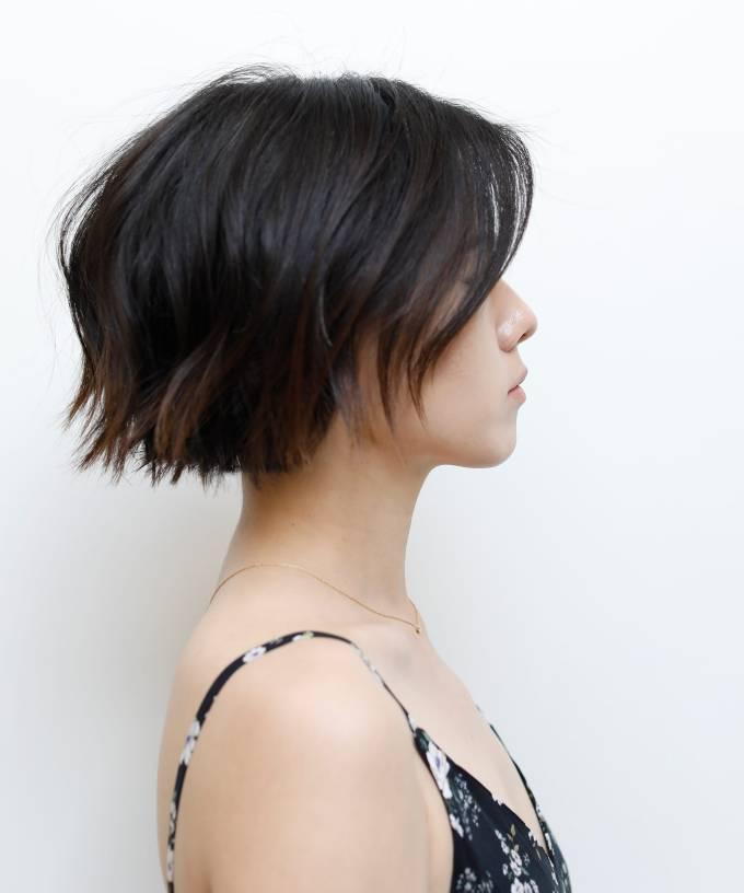 la hair trend parallel undercut thick hair technique