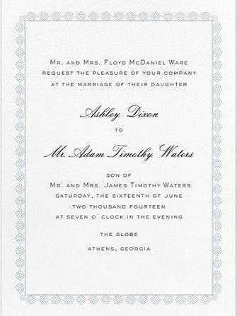 Religious Wedding Invitation Wording Couple Hosting Wedding