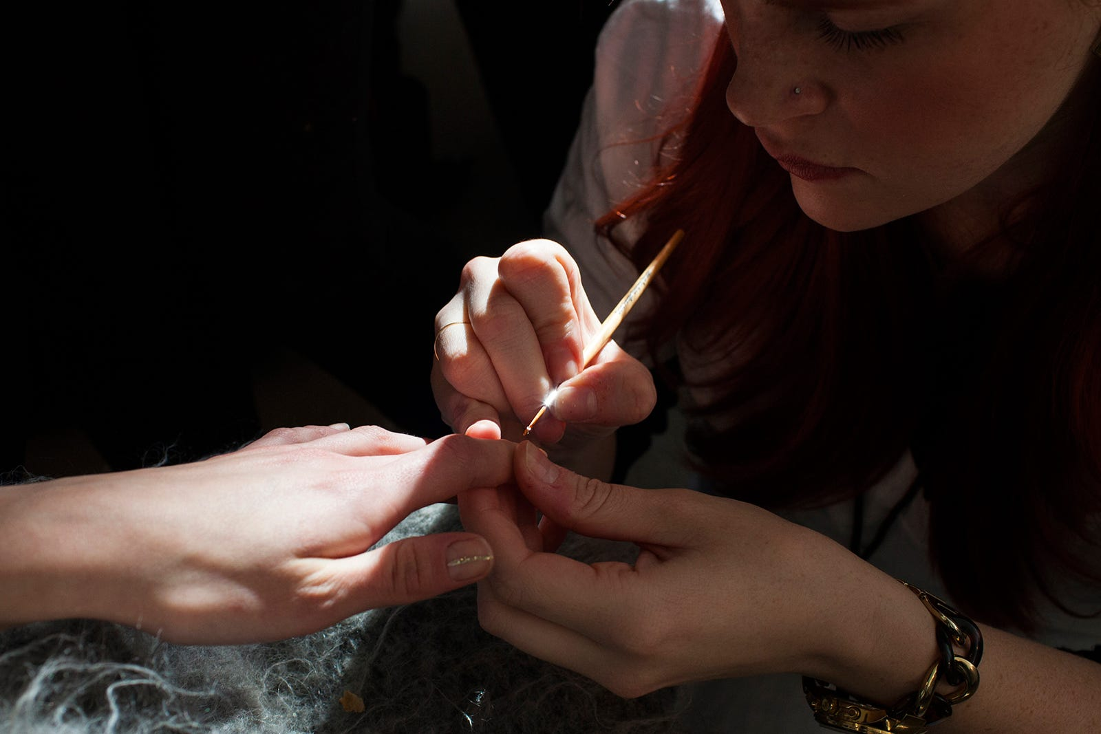 nyfw 2015 fall winter nails backstage close up candid