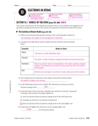 Electrons In Atoms Worksheet Answers Chapter 5 1 - Kidz ...