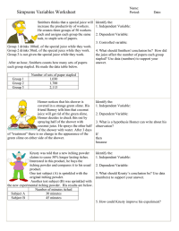 Identifying Independent And Dependent Variables Worksheet ...