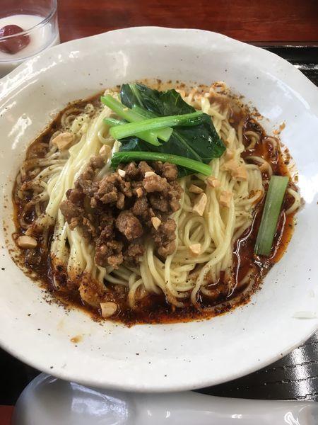 『山椒の香り汁なし坦々麺(850円)』川菜餐室 風の都のレビュー   ラーメンデータベース