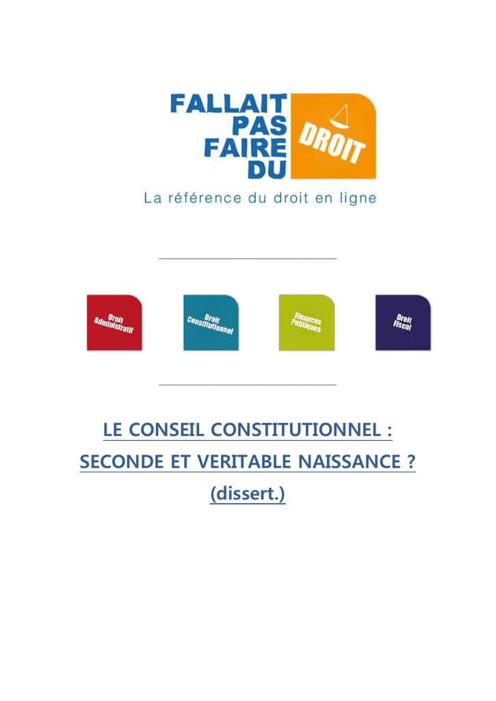 Fallait Pas Faire Du Droit : fallait, faire, droit, CONSEIL, CONSTITUTIONNEL, Fallait, Faire, Droit