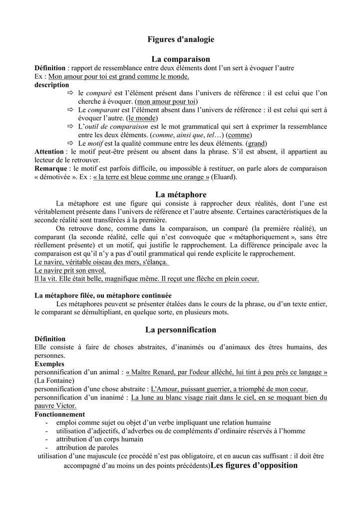 Exemple De Personnification D'un Objet : exemple, personnification, objet, Figures, D`analogie