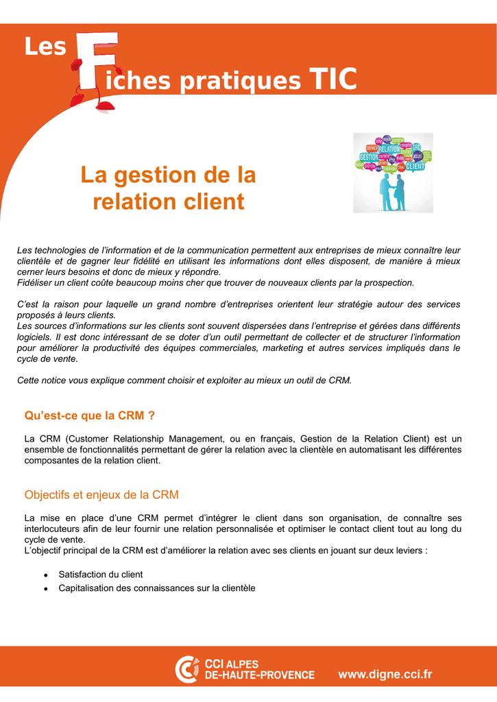 La Gestion De La Relation Client : gestion, relation, client, Gestion, Relation, Client