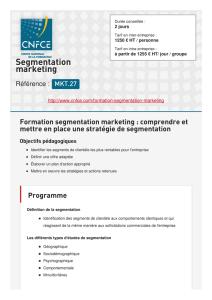 Segmentation stratégique et marketing en B to B