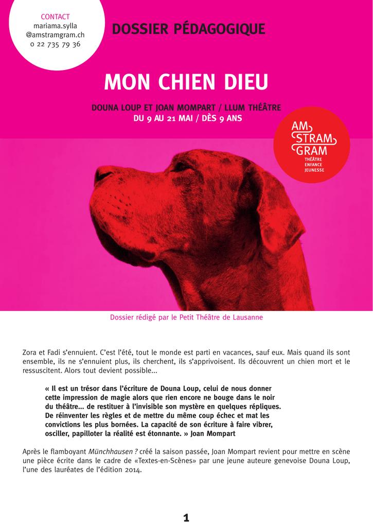 Que Faire De Son Chien Mort : faire, chien, CHIEN, Théâtre, Stram