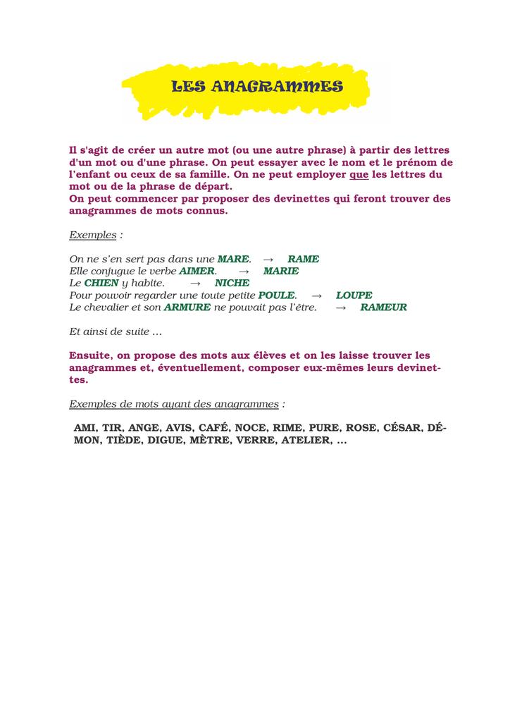 PDF  Jeux d'écriture - Free
