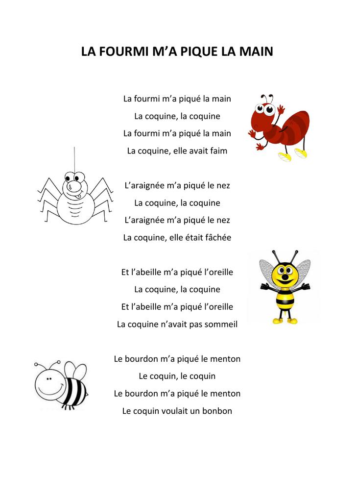 La Fourmie M'a Pique La Main : fourmie, pique, FOURMI, PIQUE