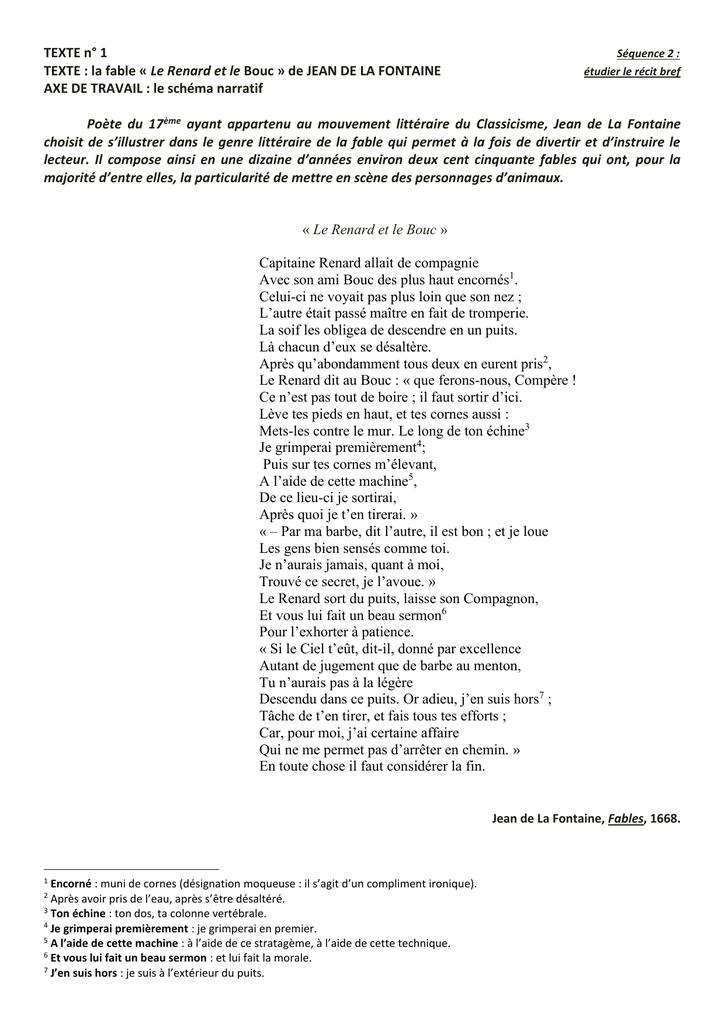 Le Renard Et Le Bouc : renard, 851_Le, Renard, Texte, Questions