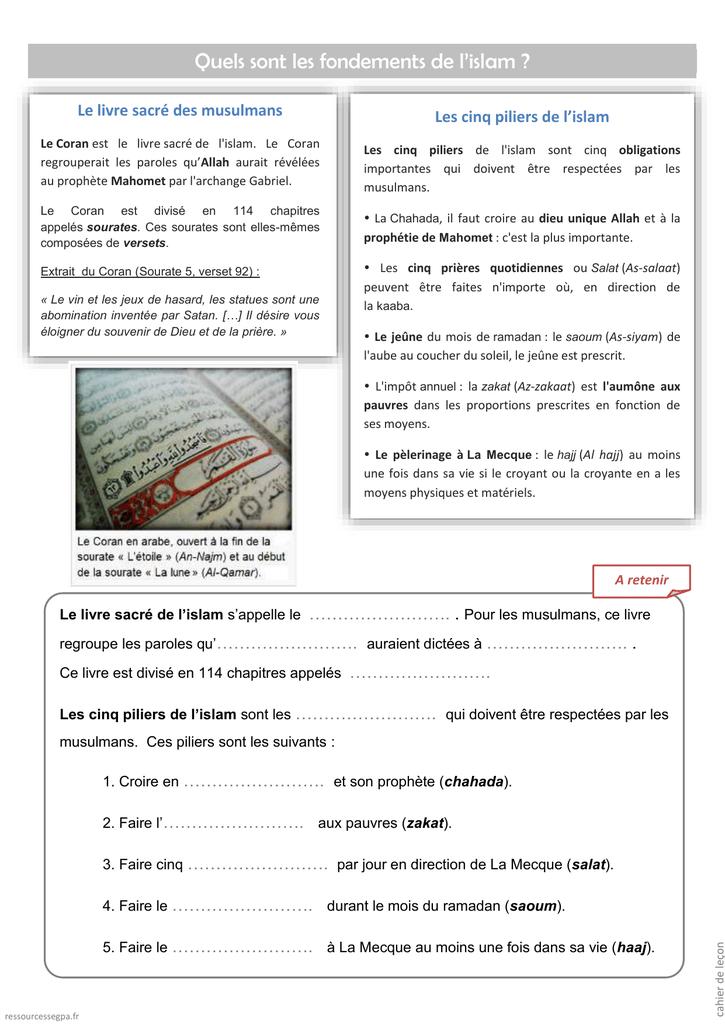 Les 5 Piliers De L'islam : piliers, l'islam, Piliers, L`islam
