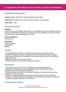 Répertoire Des Métiers De La Fonction Publique Hospitalière : répertoire, métiers, fonction, publique, hospitalière, Information, Générale, Répertoire, Métiers, Fonction