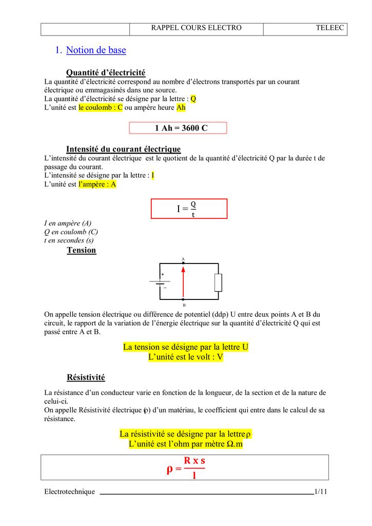 Tension En Grec 5 Lettres : tension, lettres, Rappel, Cours, Electro