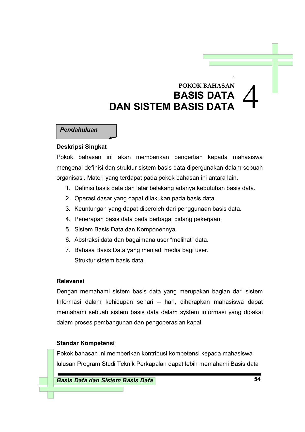 Operasi Basis Data : operasi, basis, Pokok, Bahasan, Basis, Sistem