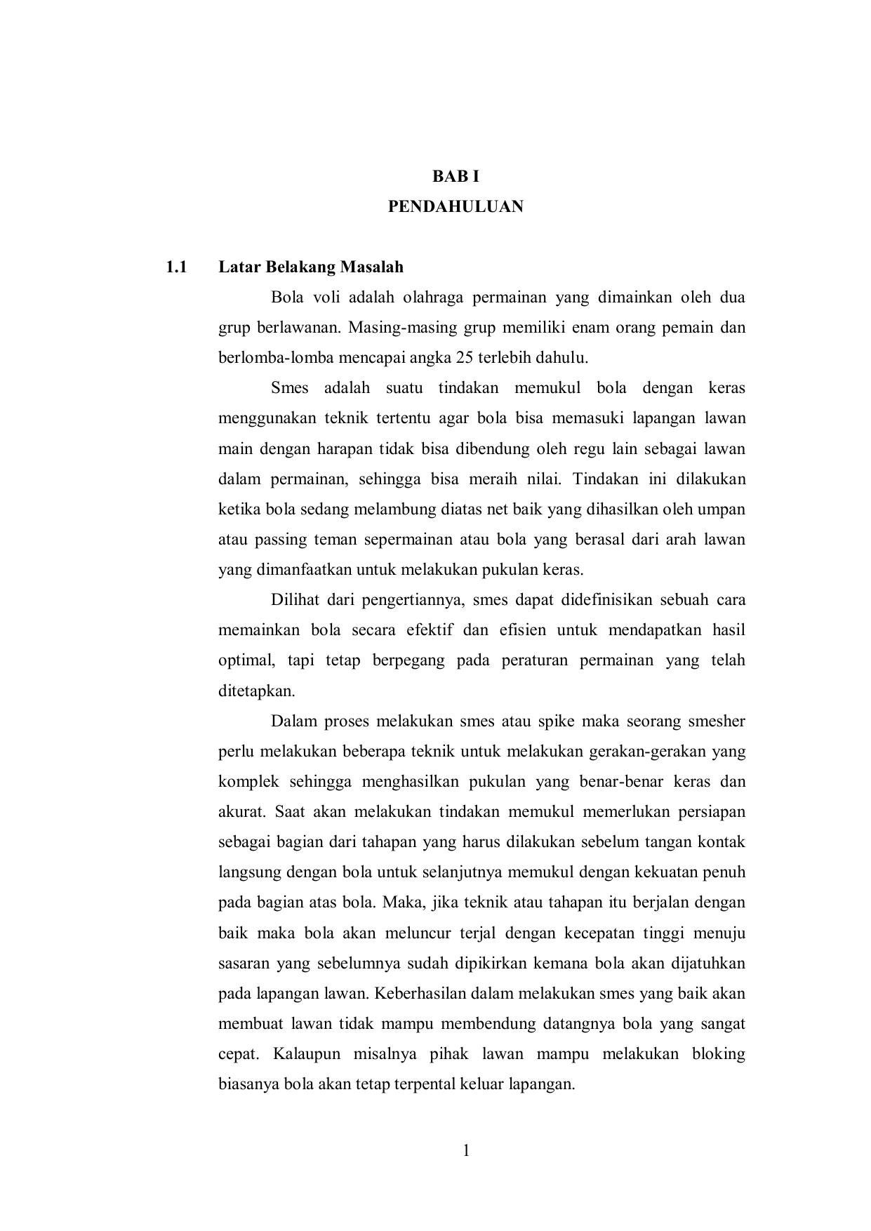 Makala Bola Voli : makala, PENDAHULUAN, Latar, Belakang, Masalah