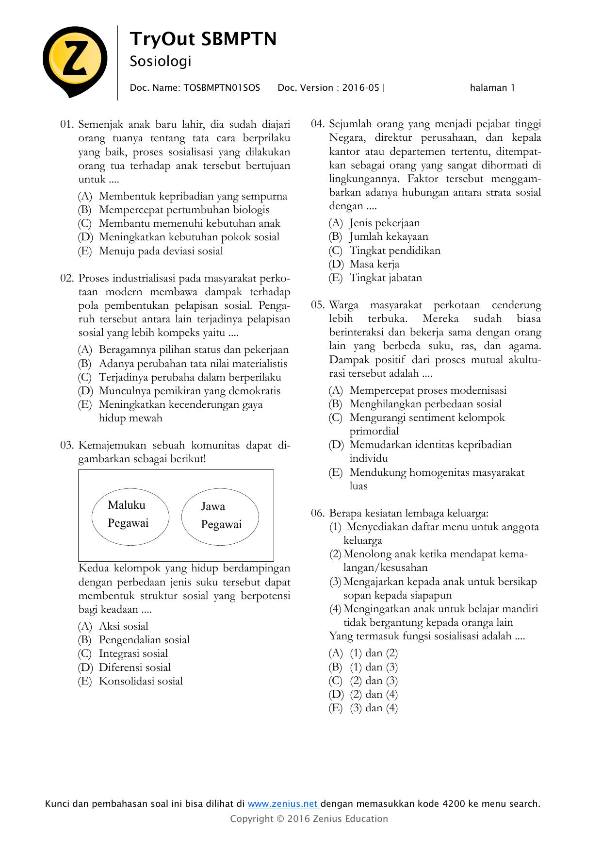 Try Out Sbmptn Zenius : sbmptn, zenius, TryOut, SBMPTN, Zenius, Education