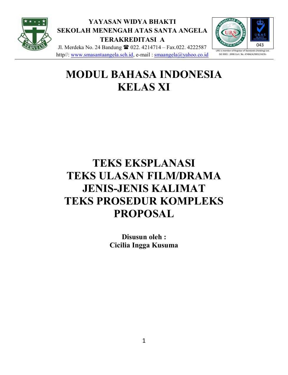 Materi Teks Eksplanasi Kelas 11 : materi, eksplanasi, kelas, Modul, Bahasa, Indonesia, Kelas, Eksplanasi