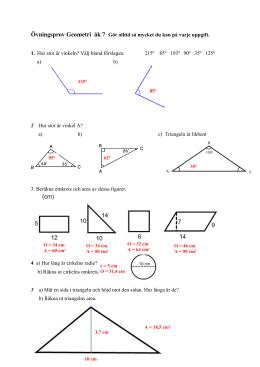 repetitionsuppgifter geometri