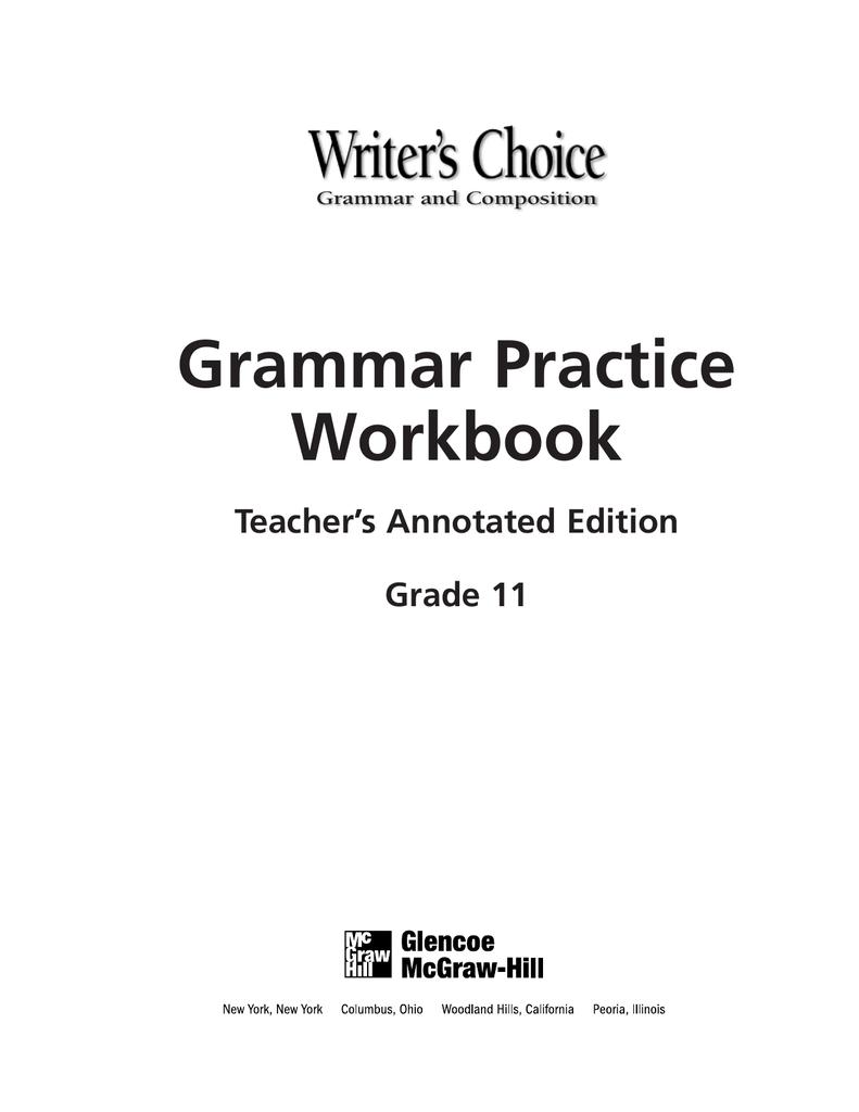 hight resolution of Grammar Practice Workbook