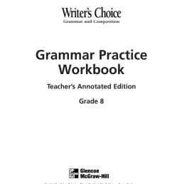 Grammar Practice Workbook [ 1024 x 800 Pixel ]