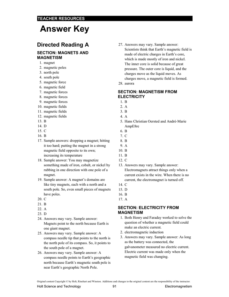 hight resolution of answer_key - Northside Middle School