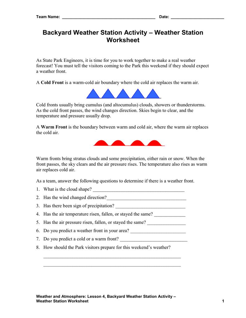 medium resolution of Weather Station Worksheet
