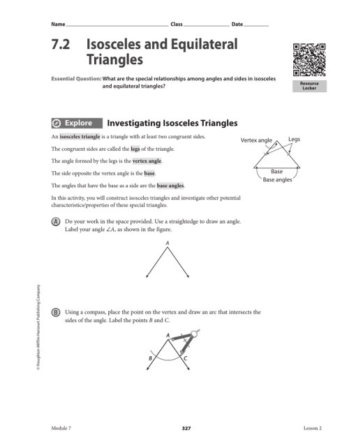 small resolution of 7.2 Isosceles and Equilateral Triangles
