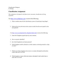 worksheet. Classifying Living Things Worksheet. Worksheet ...