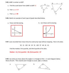 9.1.4 AA Triangle Similarity Homework 9 [ 1024 x 791 Pixel ]
