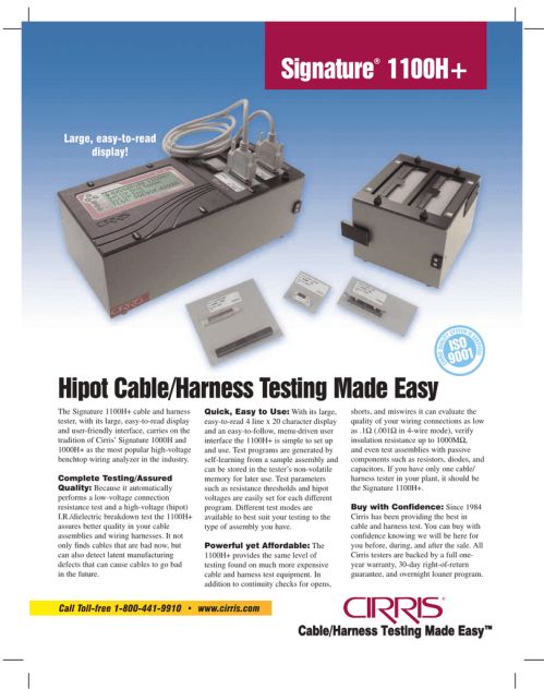 small resolution of wire harnes test equipment