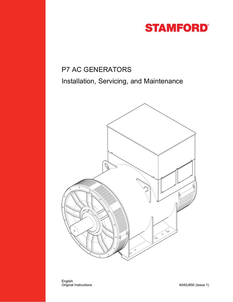medium resolution of  marathon generators p7 ac generators installation servicing and maintenance stamford generator dc wiring diagram on stamford