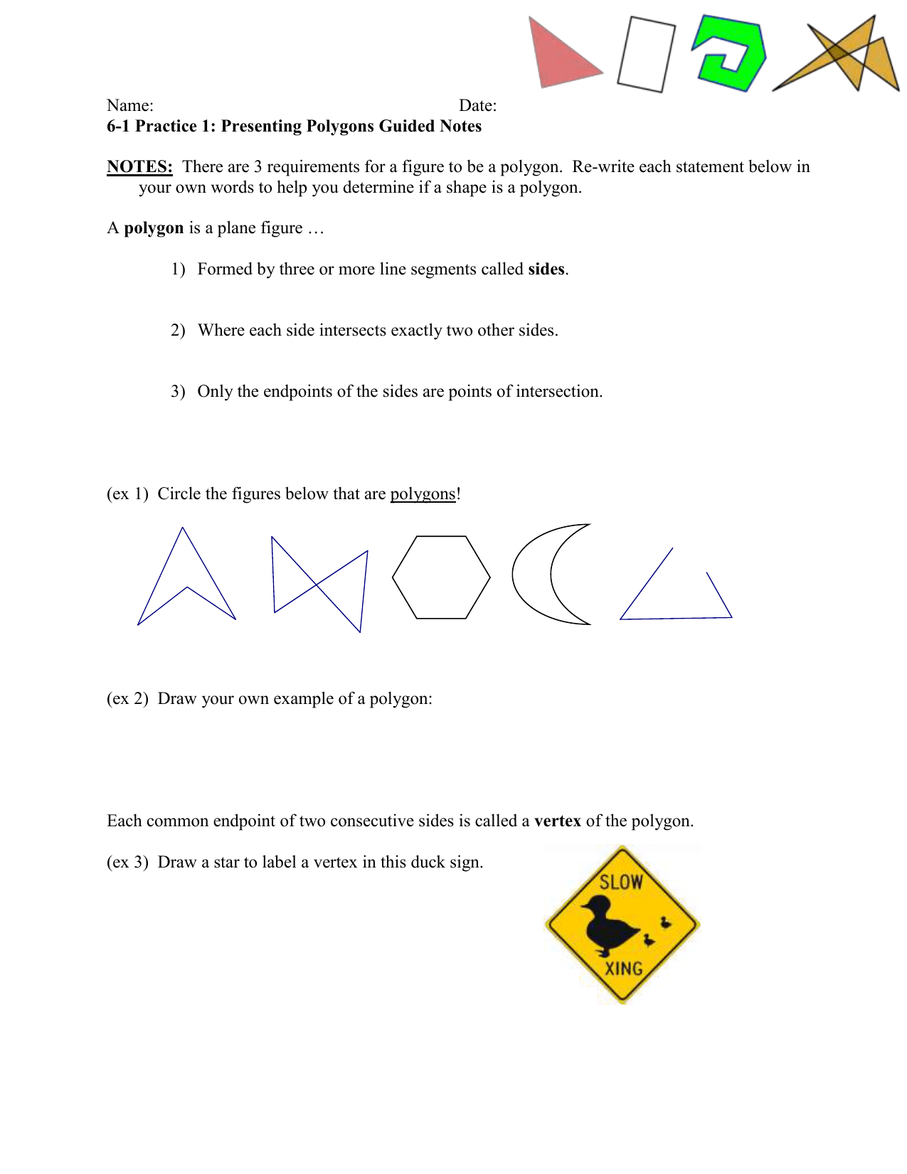 100 6 1 Practice Angles Of Polygons Answer Key