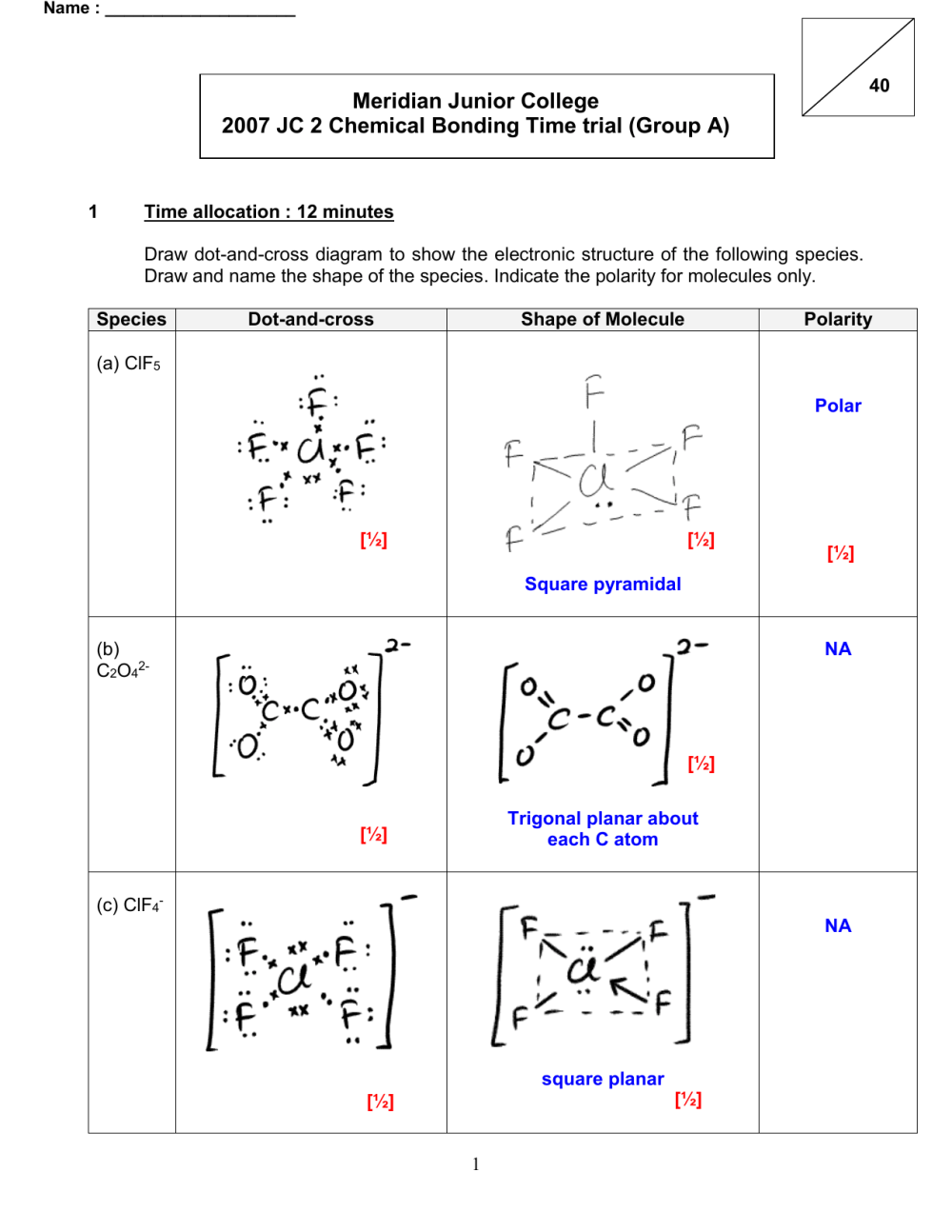 medium resolution of jc2 chemical bonding time trial soln dot and cross diagram of h2o2
