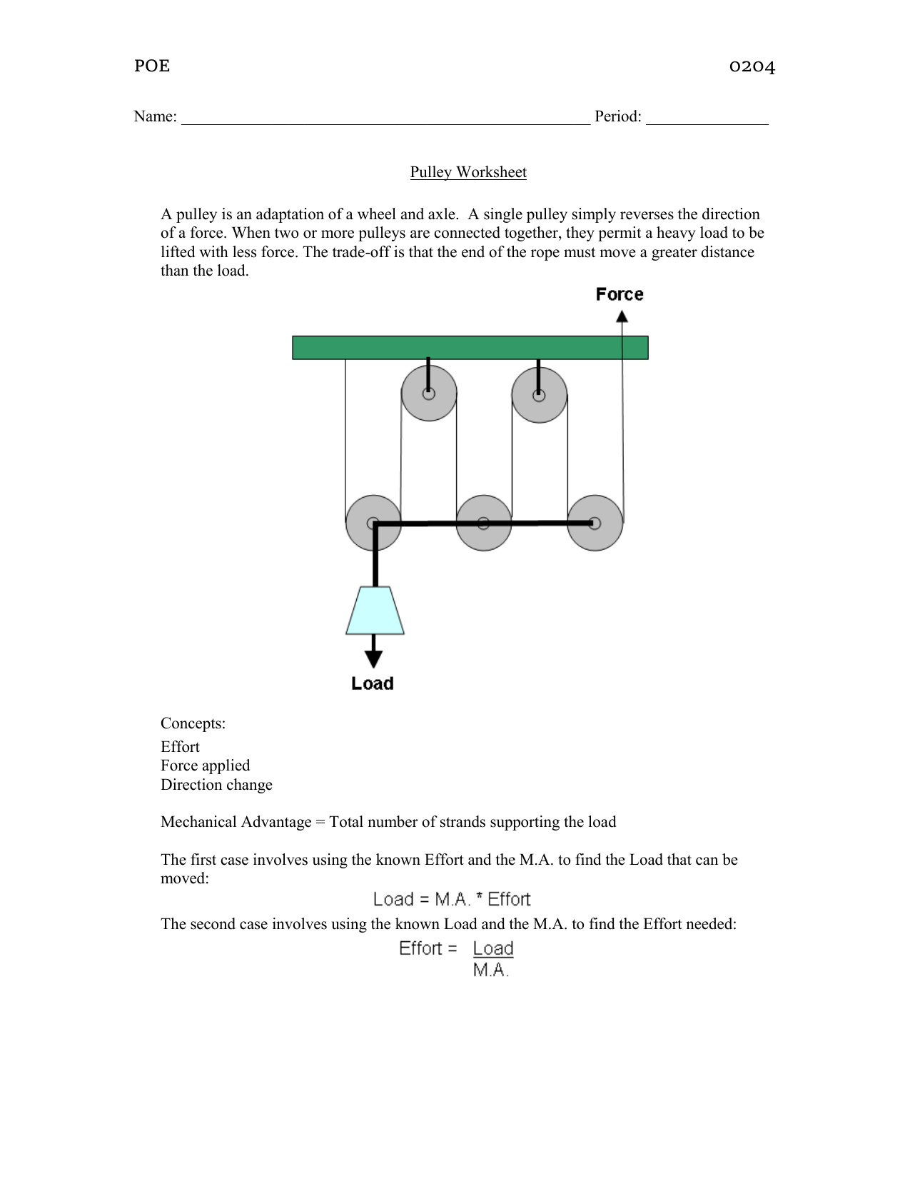 20 Latest Simple Machines Pulley System Worksheet