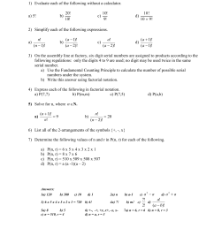 Permutations and Factorial Notation Worksheet [ 1651 x 1275 Pixel ]